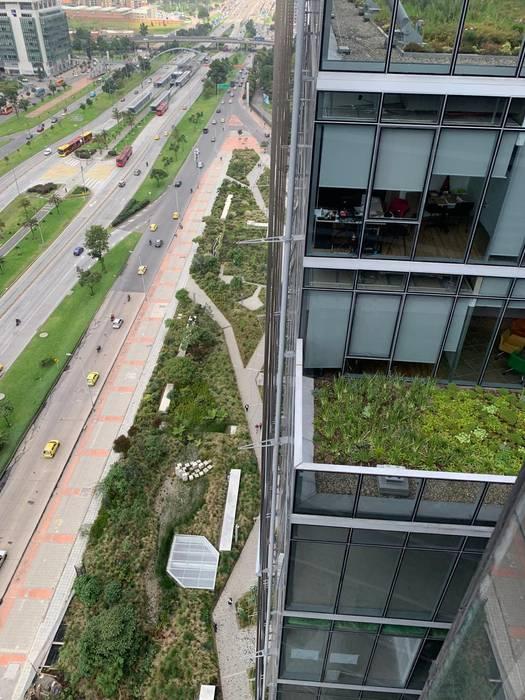 Techos Verdes del Edificio Elemento: Techos planos de estilo  por Helecho SAS,