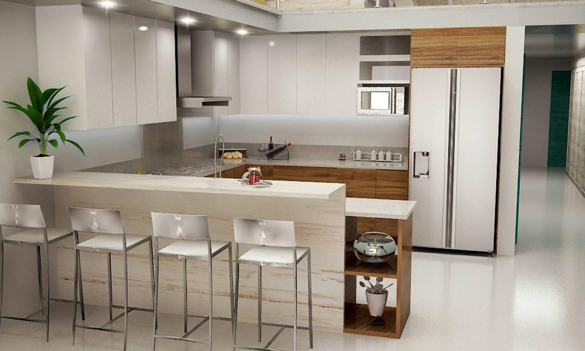 Petites cuisines de style  par BSRG Arquitectura