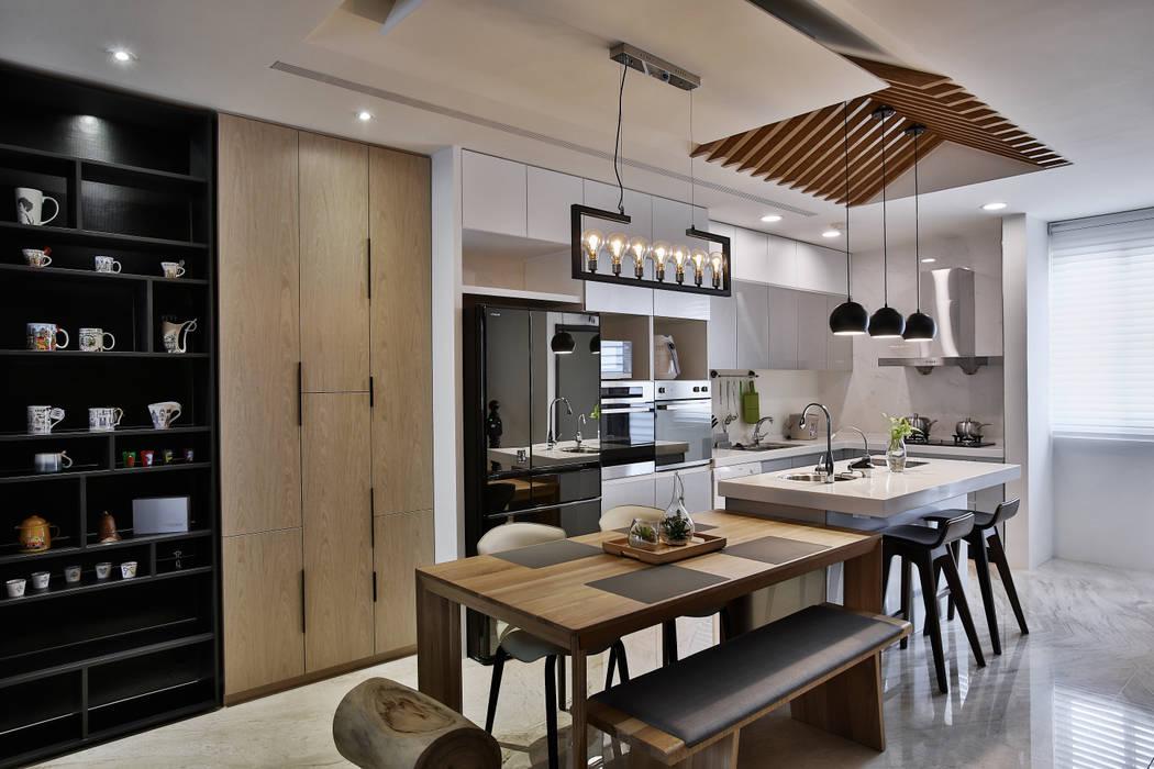 餐廚 現代廚房設計點子、靈感&圖片 根據 安提阿設計有限公司 現代風
