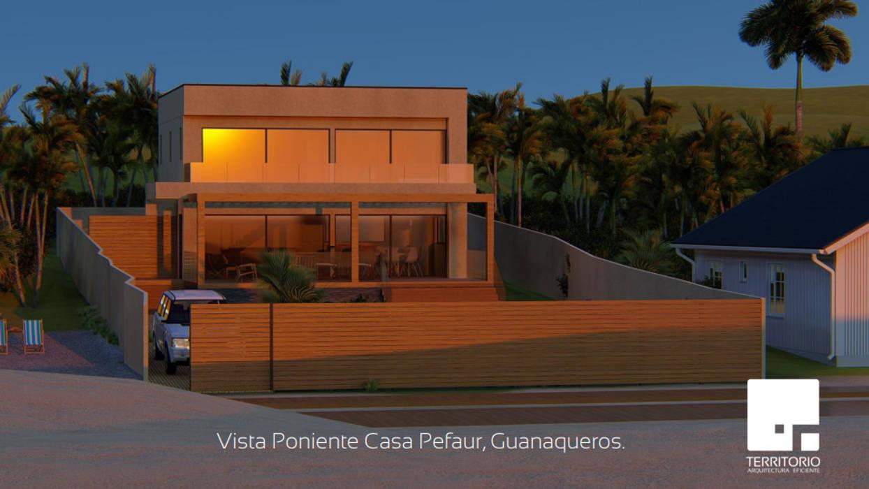 Fachada: Cabañas de estilo  por Territorio Arquitectura y Construccion - La Serena,