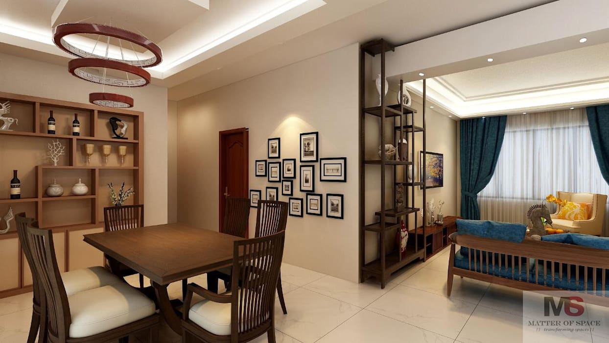 LIVING AREA:  Living room by Matter Of Space Pvt. Ltd.,