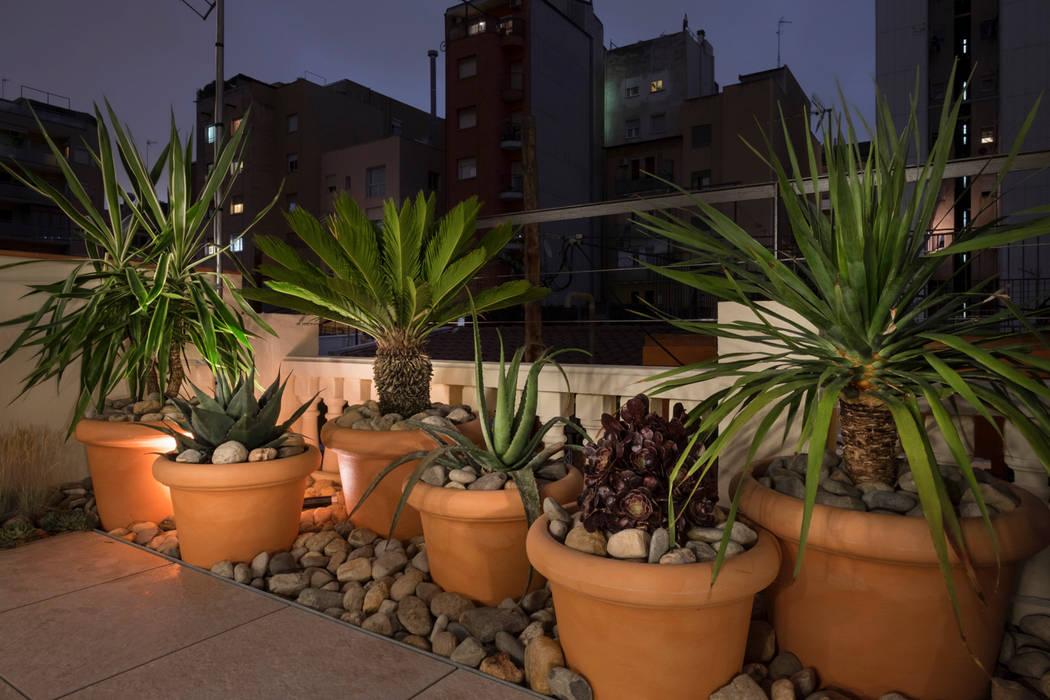 Casa en Eixample Balcones y terrazas de estilo mediterráneo de Piedra Papel Tijera Interiorismo Mediterráneo