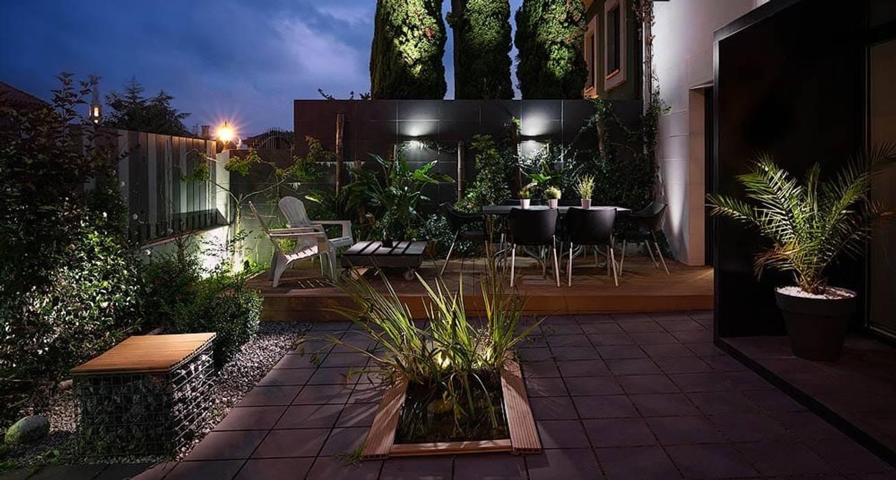 Jardín de arQmonia estudio, Arquitectos de interior, Asturias Moderno
