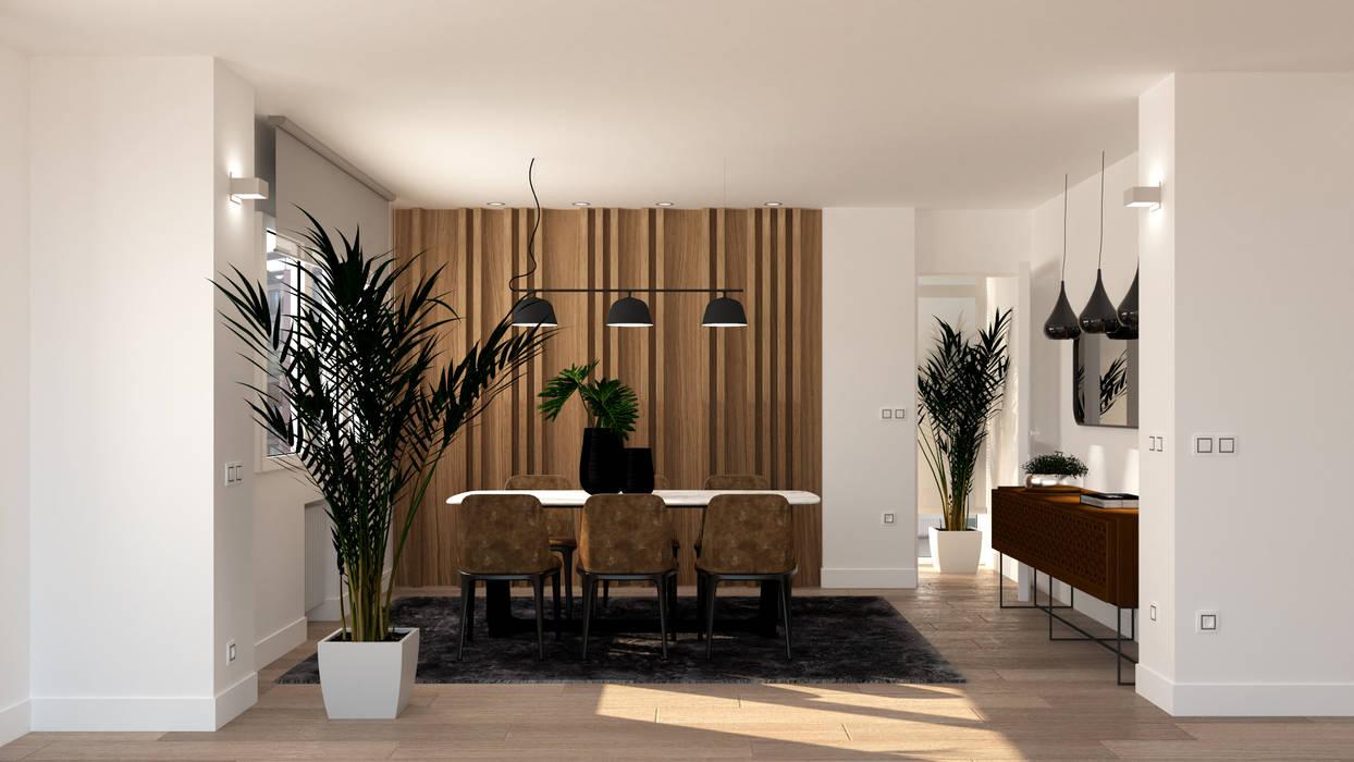 Comedor Comedores de estilo moderno de arQmonia estudio, Arquitectos de interior, Asturias Moderno