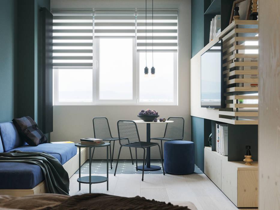 Апартаменты Plywood: Столовые комнаты в . Автор – Suiten7, Минимализм Металл