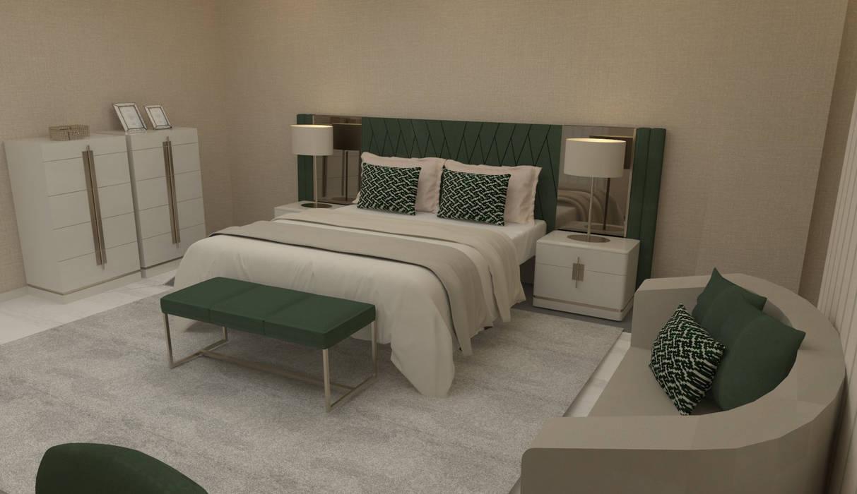 Verde... cor da esperança e do descanso!: Quartos  por Casactiva Interiores