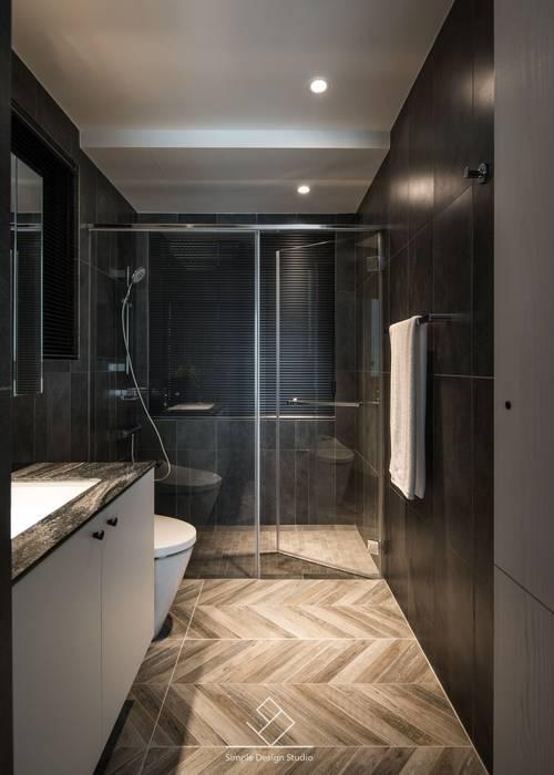 浴室重新翻修:  浴室 by 極簡室內設計 Simple Design Studio, 現代風