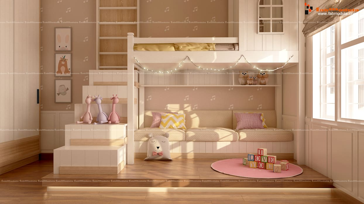 Kids Room:  Small bedroom by Fabmodula,Modern