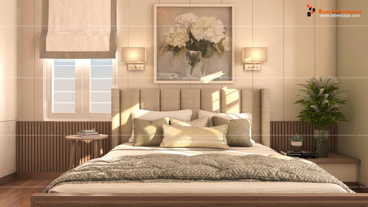 Master Bedroom:  Bedroom by Fabmodula
