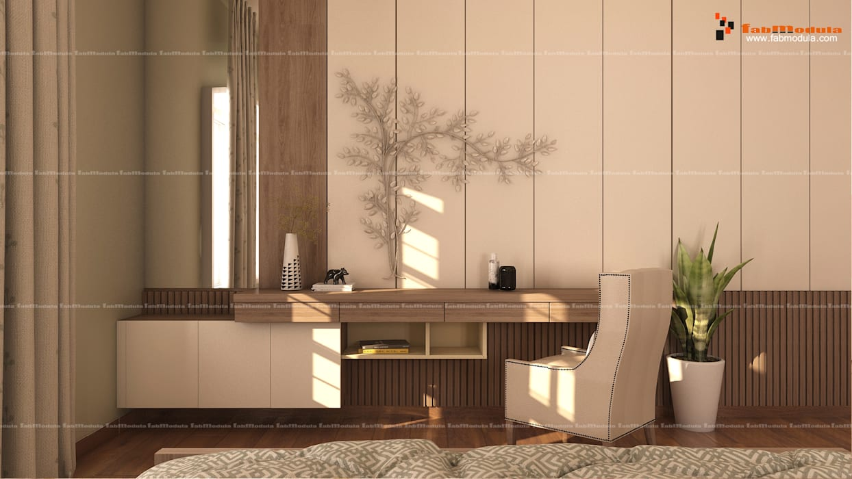 Office Area:  Study/office by Fabmodula,