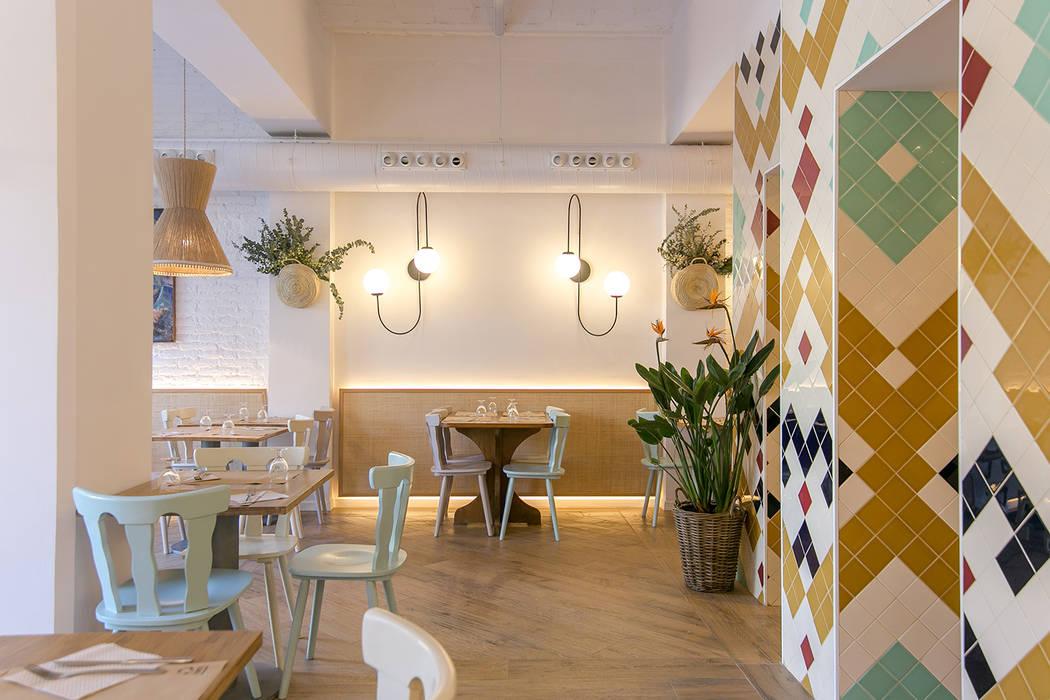 Govinda Piedra Papel Tijera Interiorismo Gastronomía de estilo mediterráneo