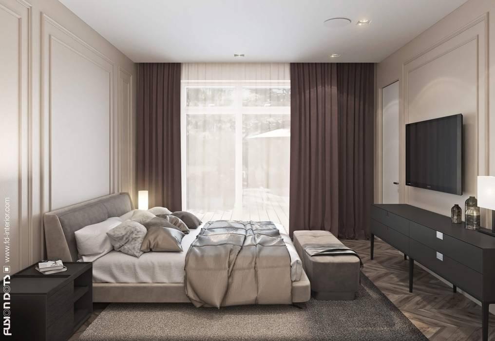 Спальня: Спальни в . Автор – Fusion Dots, Эклектичный