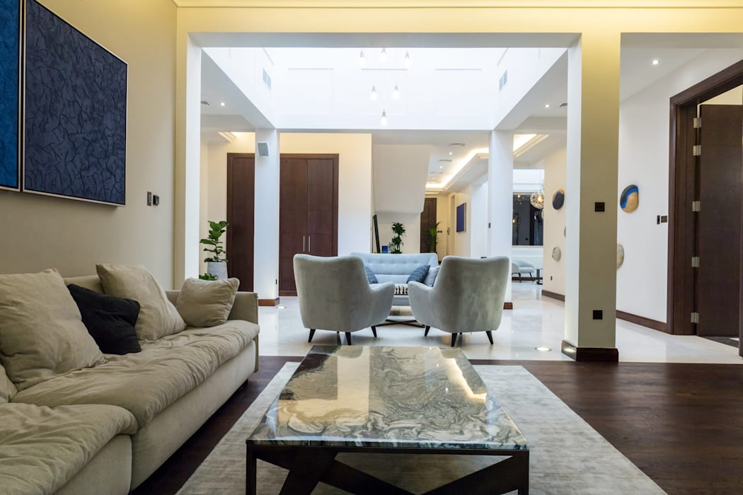 Family living modern living room by we style middle east ...
