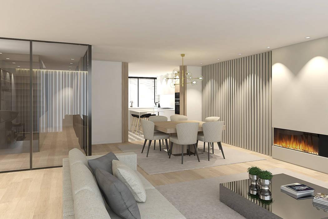 Comedores de estilo moderno de 411 - Design e Arquitectura de Interiores Moderno