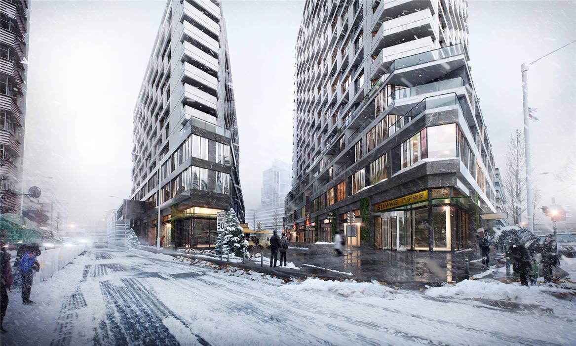 Archviz, Architectural visualization by weicheng Modern Bricks