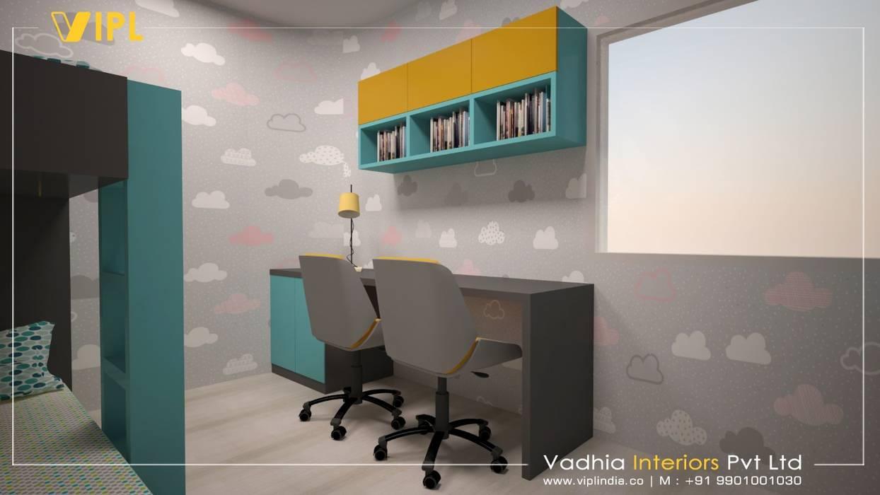 Kids bedroom:  Bedroom by Vadhia Interiors Pvt Ltd,Modern