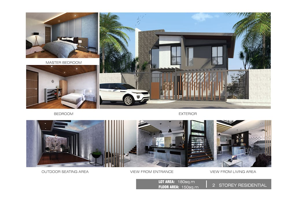 2 Storey residential Modern home by MR architecture Modern