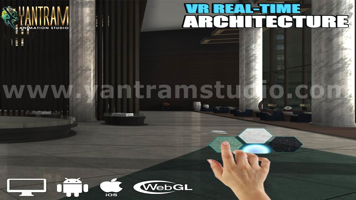 Interactive Interior Application Development by Web Based Virtual Reality:  Floors by Yantram Architectural Design Studio, Modern