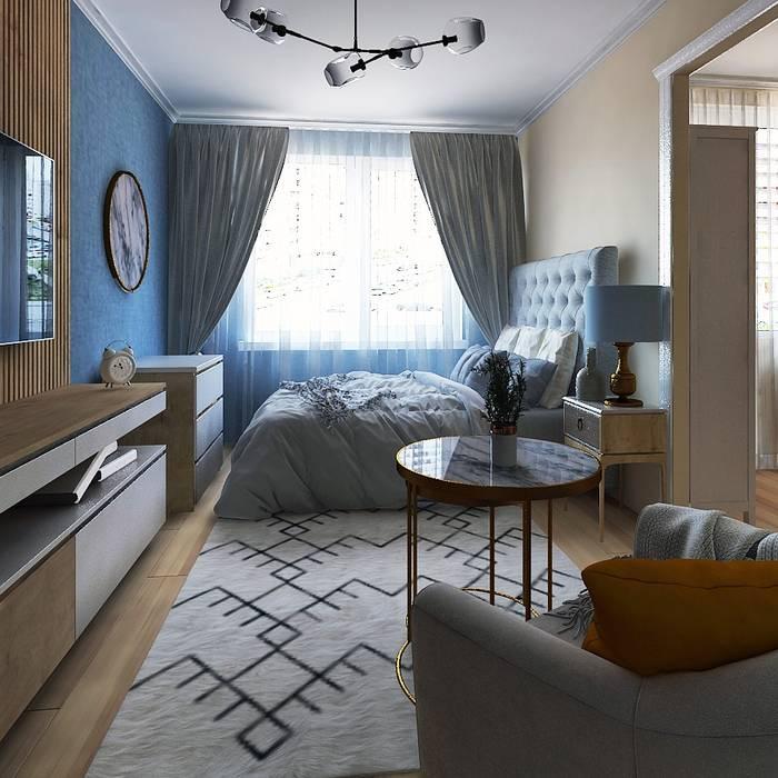 Проект совмещенный спальни и кухни: Спальни в . Автор – Musin Ruslan,