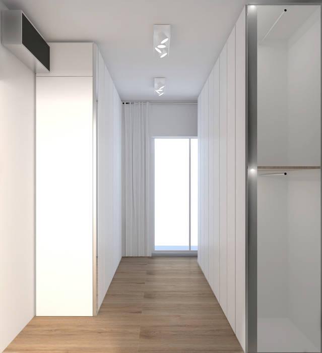 Cabina armadio Spogliatoio moderno di DUOLAB Progettazione e sviluppo Moderno