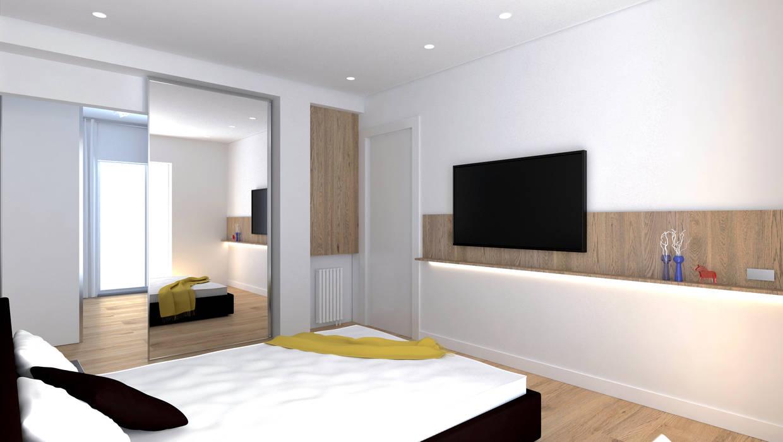 Camera da letto padronale Camera da letto moderna di DUOLAB Progettazione e sviluppo Moderno