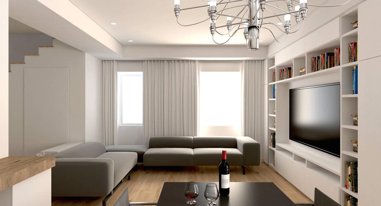 Salotto soggiorno moderno di duolab progettazione e sviluppo ...