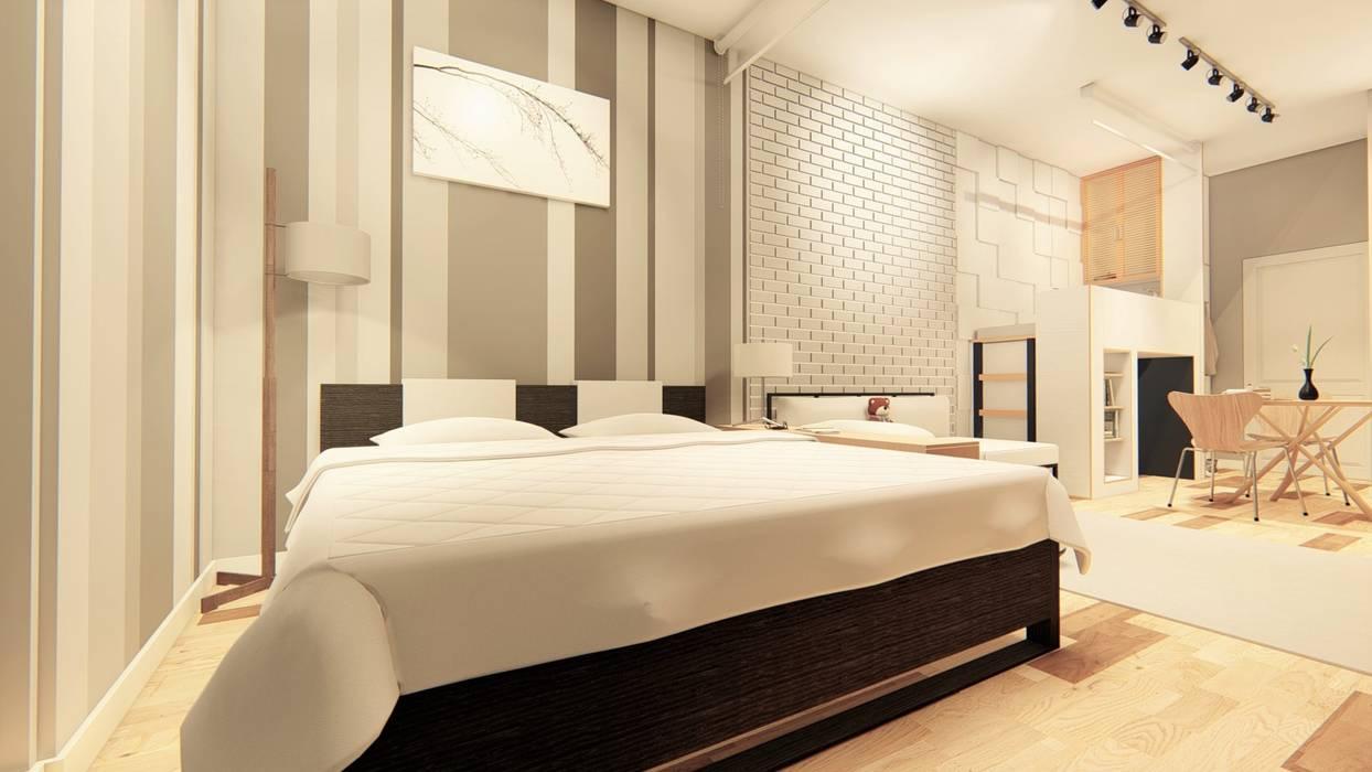 Hazni's SOHO Minimalist bedroom by LI A'ALAF ARCHITECT Minimalist