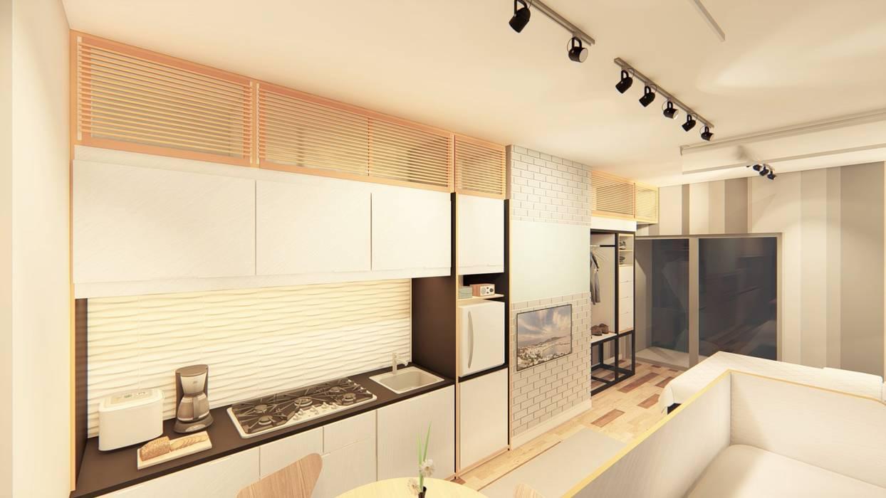 Hazni's SOHO :  Kitchen by LI A'ALAF ARCHITECT,