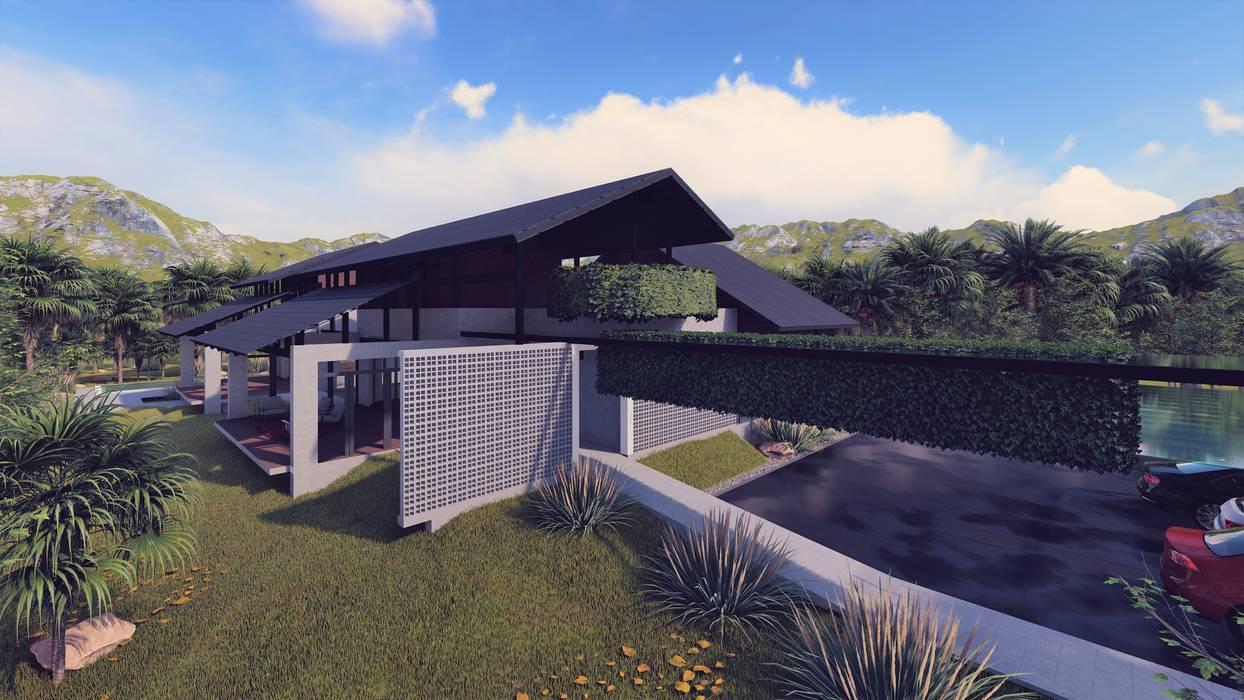 Izat's Bungalow:  Houses by LI A'ALAF ARCHITECT,