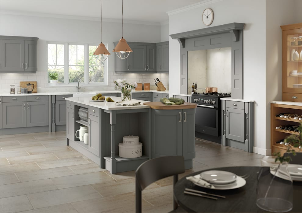 Windsor Grey Fitted Kitchens London:  Kitchen by Metro Wardrobes London,