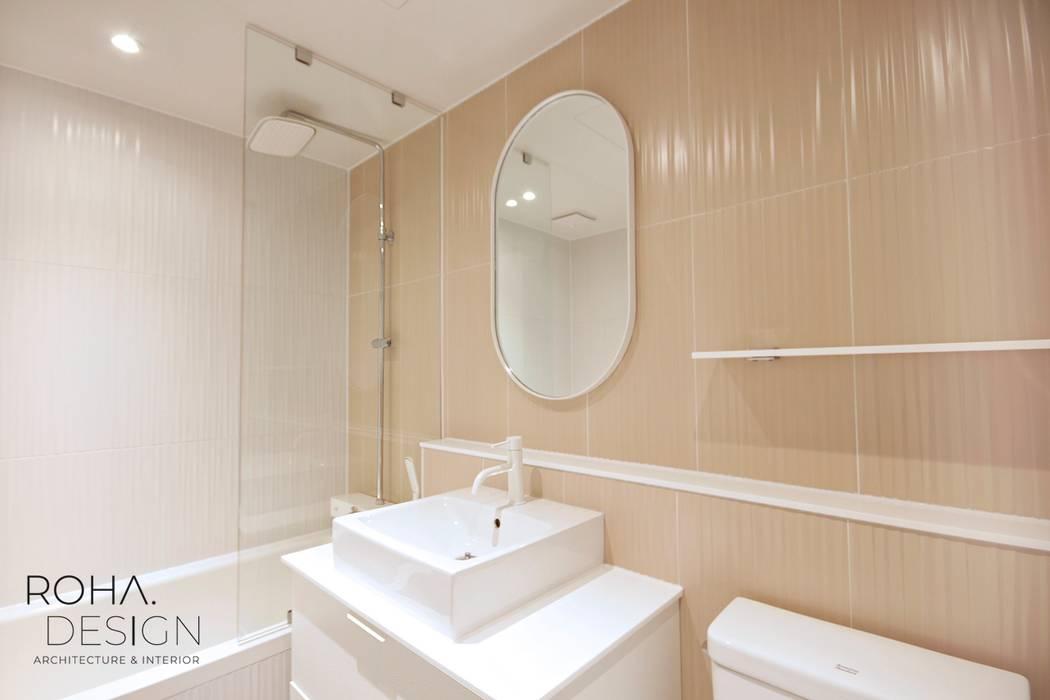 부산 베이직하고 심플한 인테리어 디자인 모던스타일 욕실 by 로하디자인 모던
