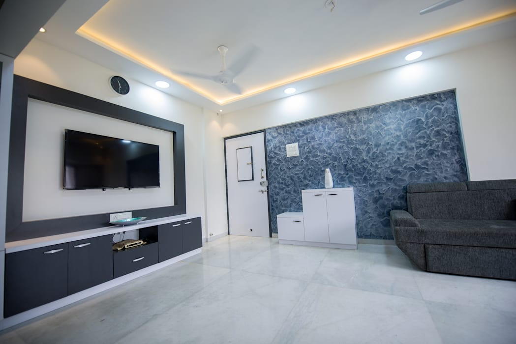 Entry/Living Area :  Dining room by Chaitali Shah ,