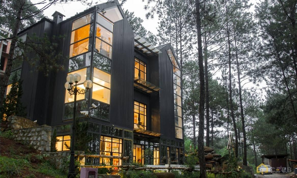 thiết kế kiến trúc biệt thự nghỉ dưỡng Dalat hiện đại Eden bởi CÔNG TY THIẾT KẾ NHÀ ĐẸP SANG TRỌNG CEEB Hiện đại