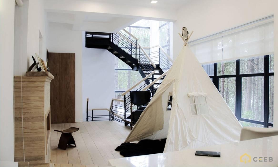 thiết kế biệt thự nghỉ dưỡng Dalat hiện đại Eden Phòng giải trí phong cách hiện đại bởi CÔNG TY THIẾT KẾ NHÀ ĐẸP SANG TRỌNG CEEB Hiện đại