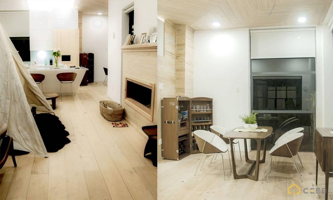 thiết kế biệt thự nghỉ dưỡng Dalat hiện đại Eden:  Phòng ăn by CÔNG TY THIẾT KẾ NHÀ ĐẸP SANG TRỌNG CEEB,
