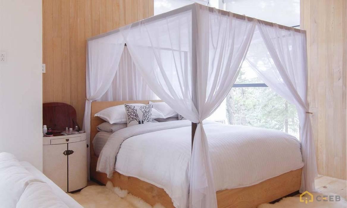 thiết kế biệt thự nghỉ dưỡng Dalat hiện đại Eden:  Phòng ngủ by CÔNG TY THIẾT KẾ NHÀ ĐẸP SANG TRỌNG CEEB,