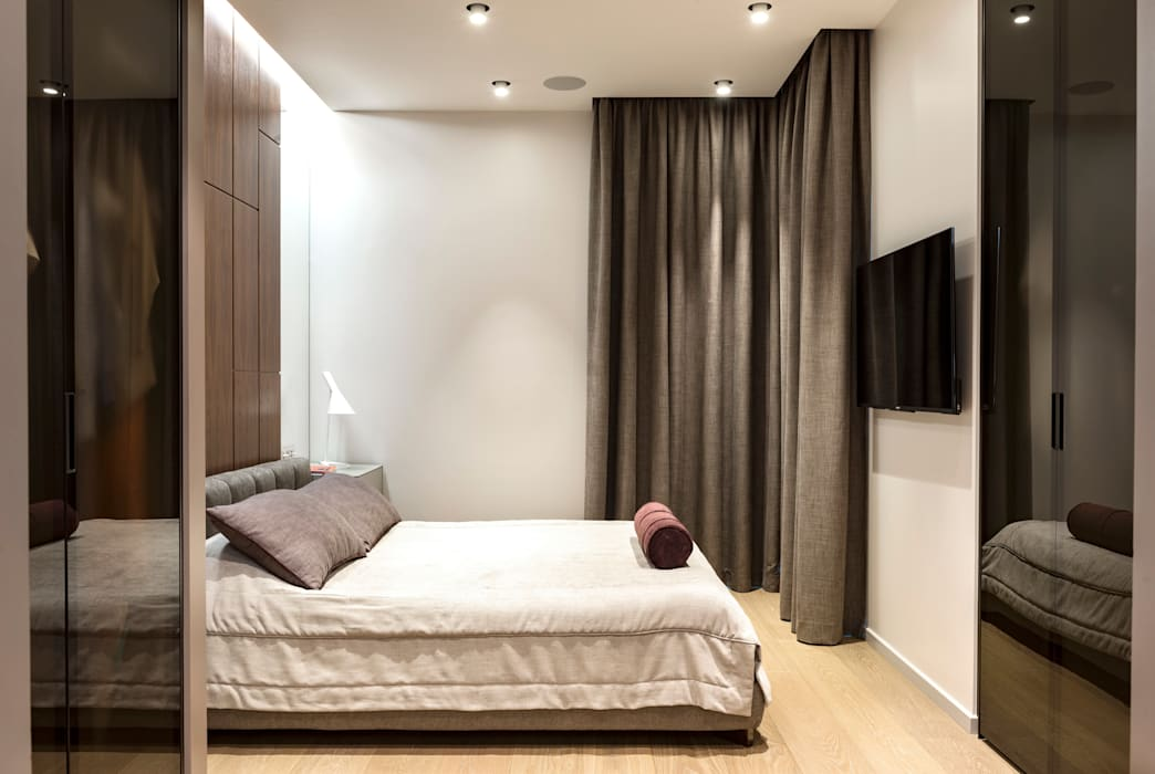 Квартира в ЖК Кристалл: Спальни в . Автор – os.architects,