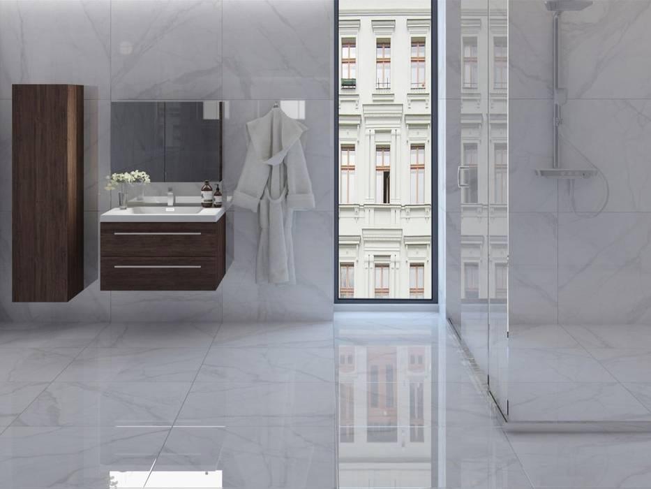 Baño con estilo mármol: Baños de estilo  por Interceramic MX, Minimalista Cerámico