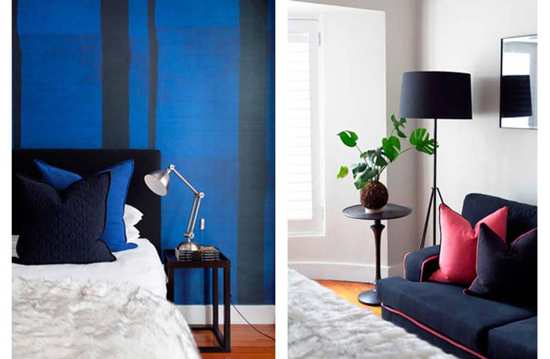Guest Bedroom:  Small bedroom by Metaphor Design, Modern Wood Wood effect