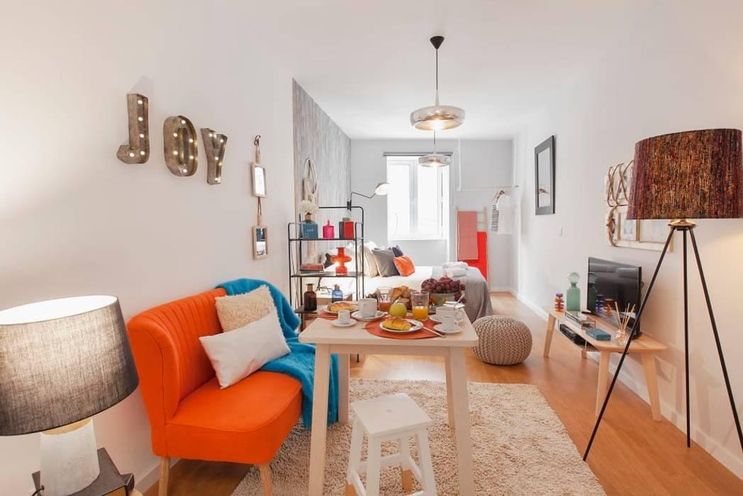 Salas de estilo escandinavo de Rafaela Fraga Brás Design de Interiores & Homestyling Escandinavo