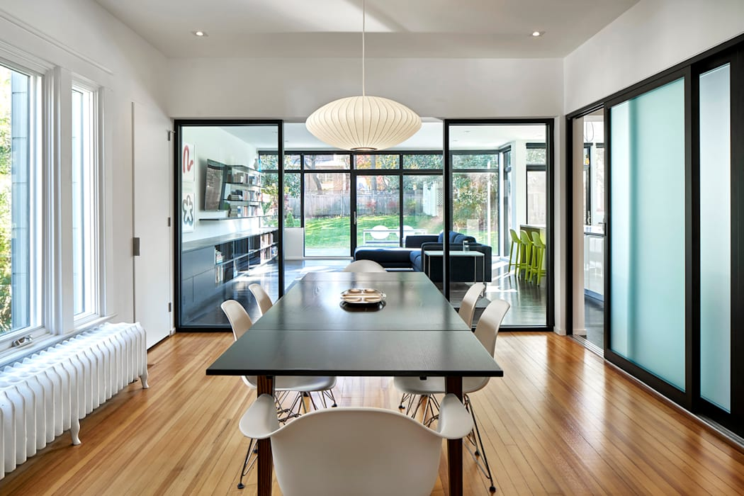 Back 2 Back Modern Dining Room by KUBE architecture Modern
