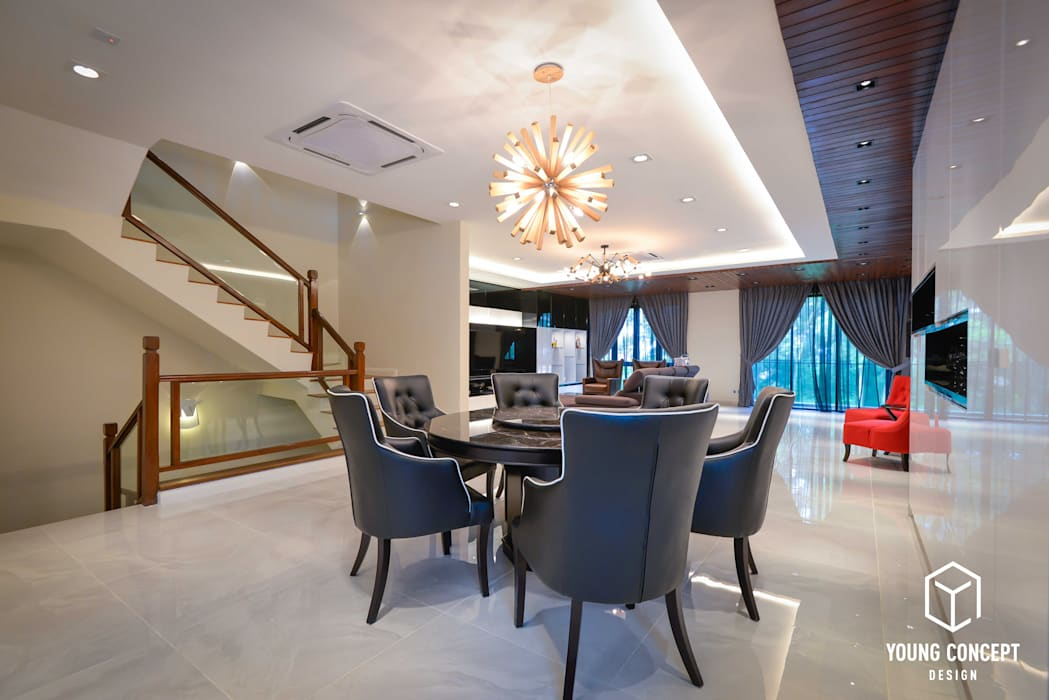 Semi-D @ Bukit Segar :  Dining room by Young Concept Design Sdn Bhd,