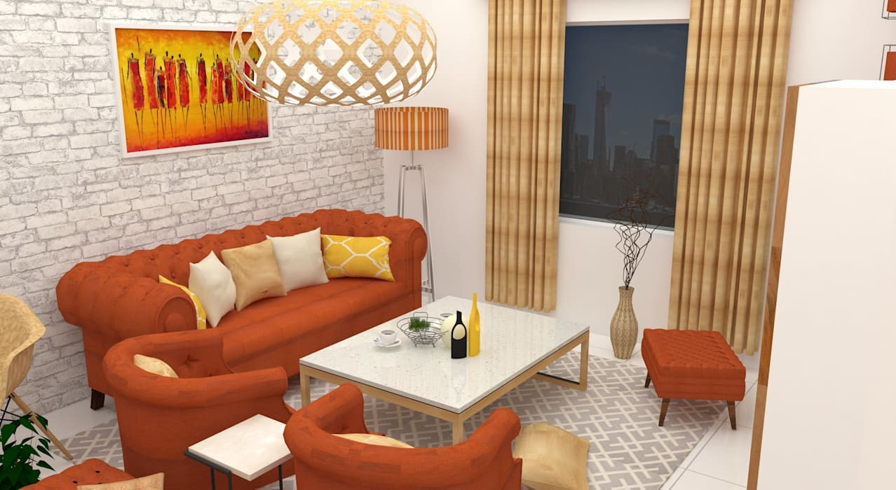 GUDIPATI HOUSE, HITECH CITY, HYDERABAD Modern Living Room by be ZEN Design Modern