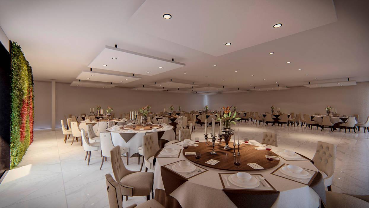 Salón de Fiestas Salones modernos de Ancla Imports S.A. de C.V. Moderno