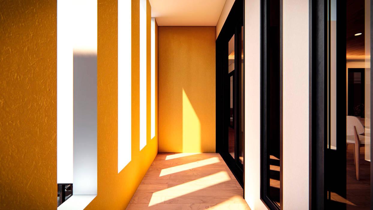Pasillo Central Pasillos, vestíbulos y escaleras coloniales de Ancla Imports S.A. de C.V. Colonial
