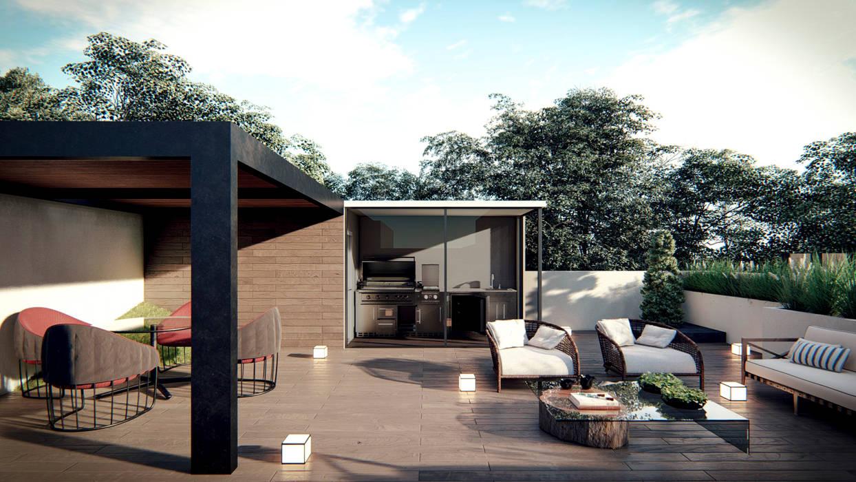 Roof Garden de Ancla Imports S.A. de C.V. Minimalista