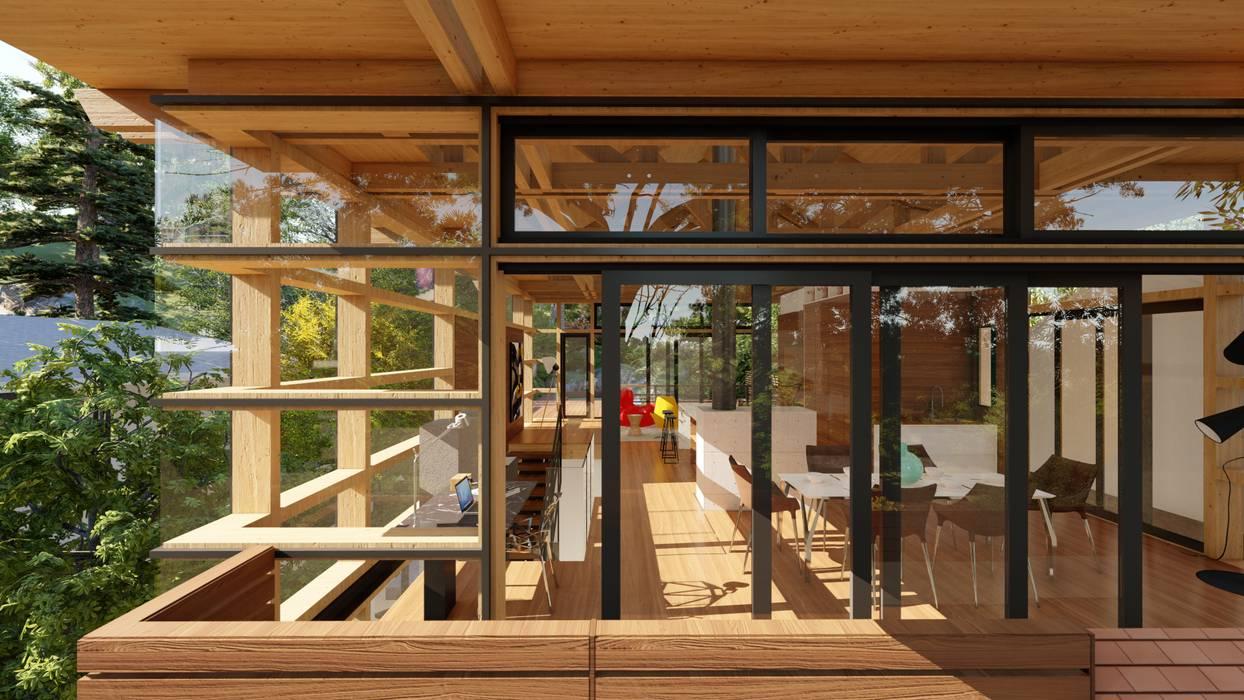 Moderne Fenster & Türen von Inline Spaces Pty Ltd Modern