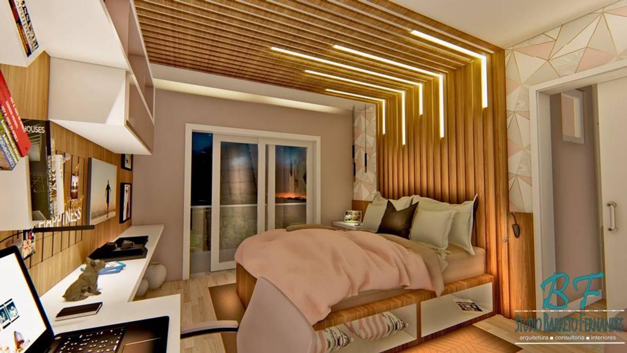 Quarto de Adolescente Varandas, alpendres e terraços modernos por Studio Barreto Fernandes Moderno