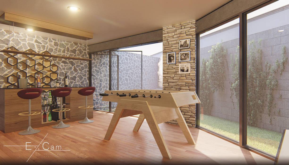 Ruang Penyimpanan Wine oleh EzCam Arquitectura, Modern