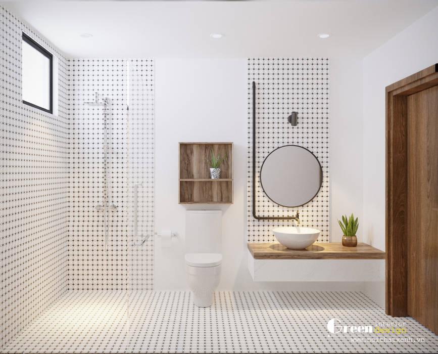 THIẾT KẾ BIỆT THỰ SÂN VƯỜN ECOPARK – THÁCH THỨC MỌI GIỚI HẠN:  Phòng tắm by Green Interior, Hiện đại